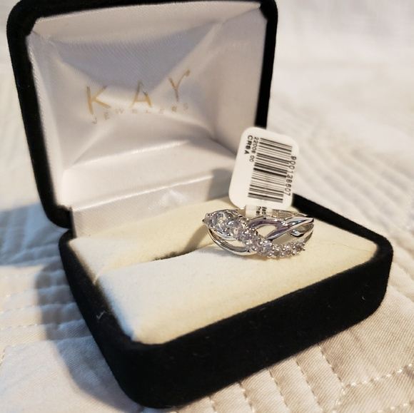 Kay Jewelers Jewelry Amazing Silver White Sapphire Ring Kay Jewelers Poshmark